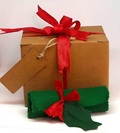 Christmas gift wrapping & box